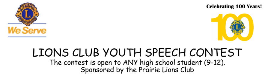 Lions Club Speech Contest