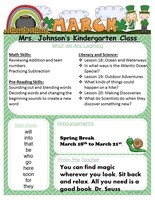 Kindergarten March Newsletter