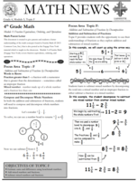 Parent Letter Math Topic F
