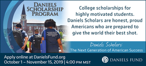 Daniels Fund Scholarship opens today