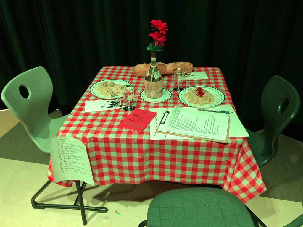 Dinner table for the play