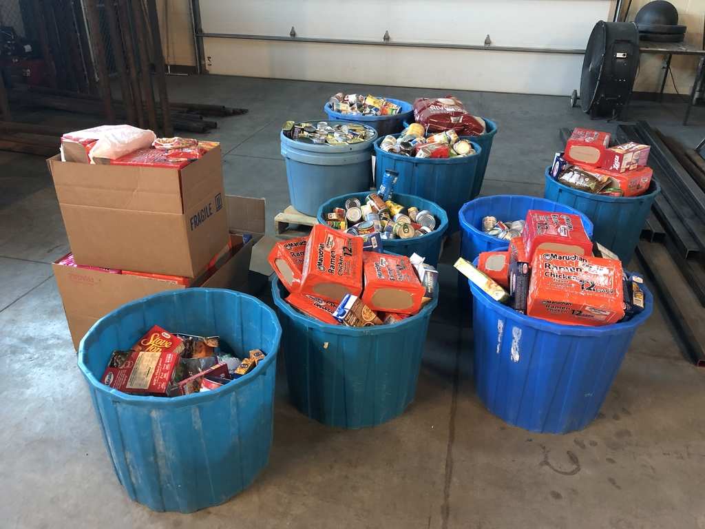 The schools results of the Cannes food drive.