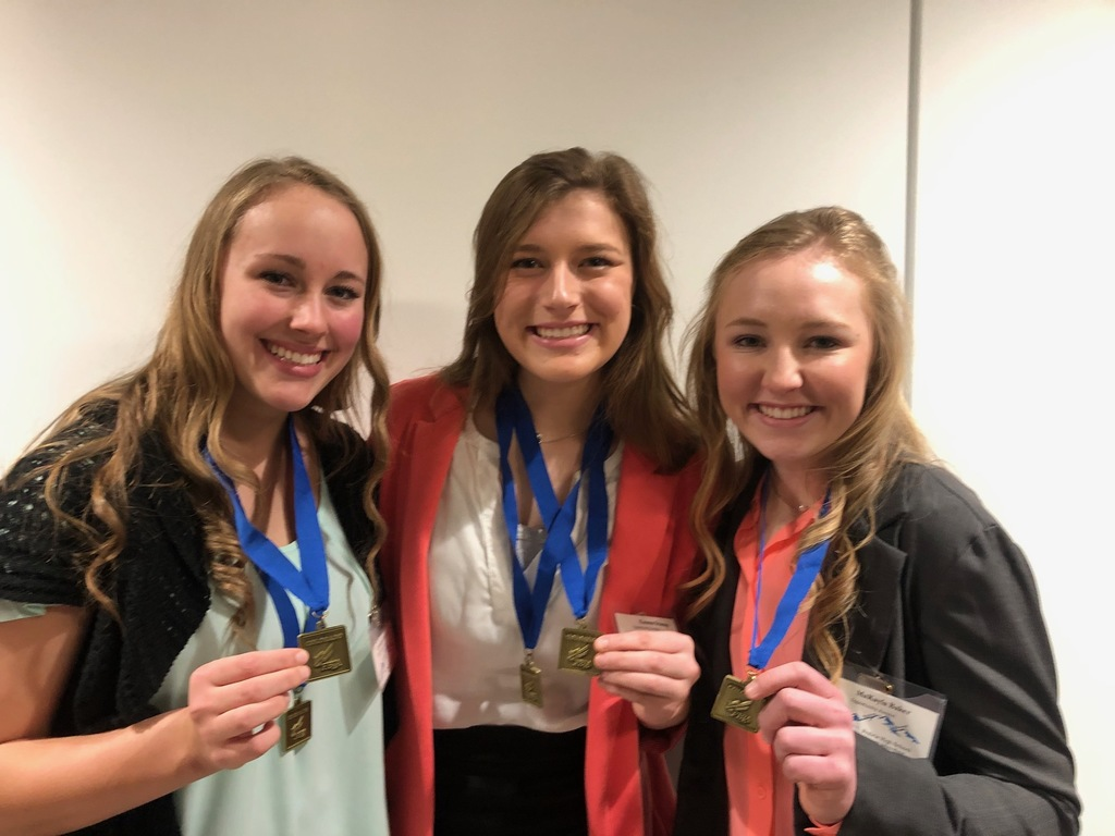Loralei, Emma, and MaKayla are going to State FBLA