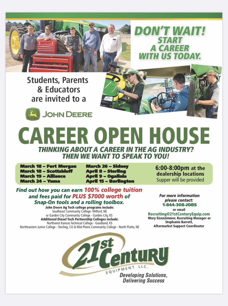 21st Century open house flyer.
