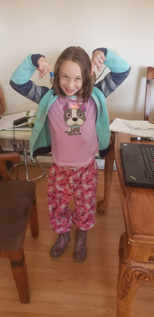 Check out her pjs!